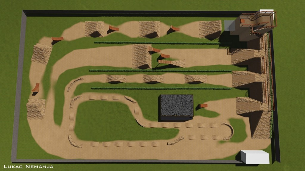 Rendering Monza Pizza Bike Park